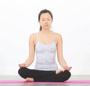 Meditate in Semi Lotus Position
