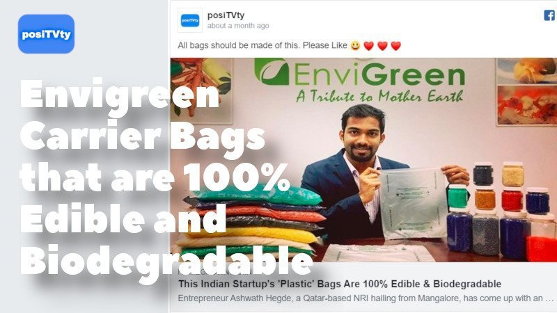 Envigreen Carrier Bags that are 100% Edible and Biodegradable