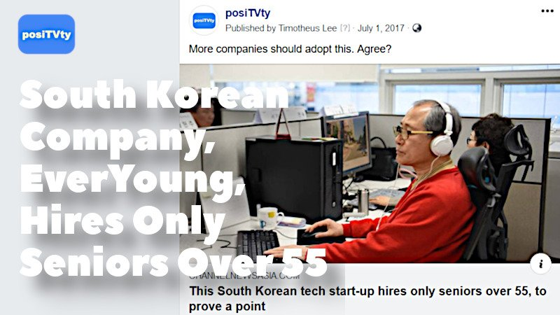 South Korean Company EverYoung Hires Only Seniors Over 55