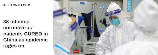 38 Coronavirus PatientsCured