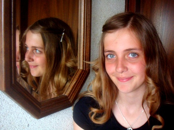 Smile in front of mirror