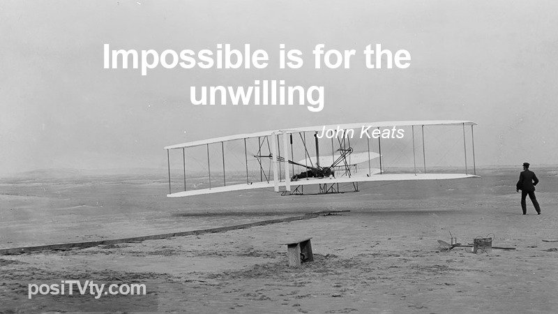 Motivational Quote By John Keats - Impossible Is For The Unwilling